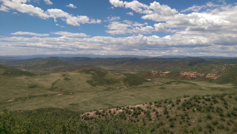 View from top of Cheyenne Rim.
