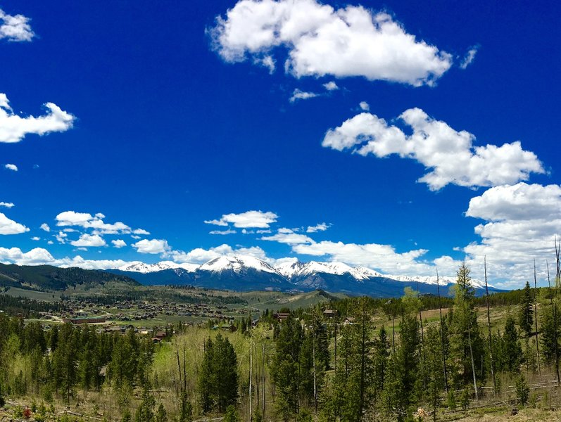 View from the Soda Ridge Trail overlooking Keystone.