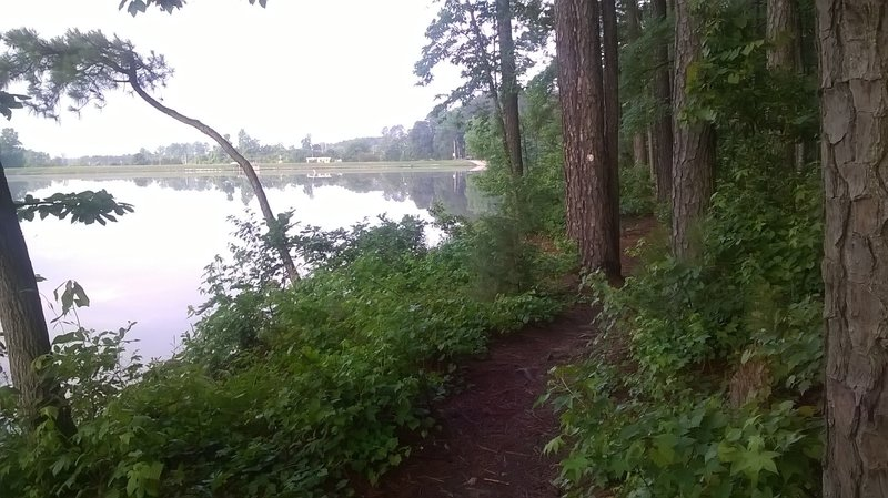 Coming back toward the reservoir dam treats you to this water front section.