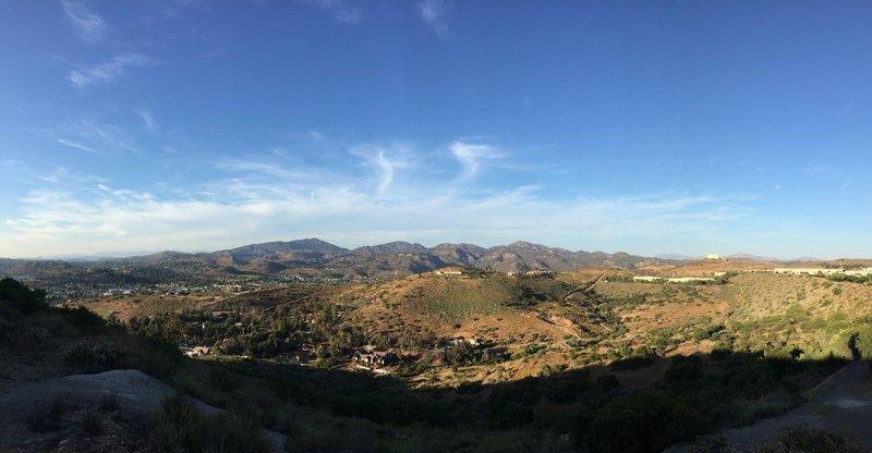 View of Iron Mountain in Poway.