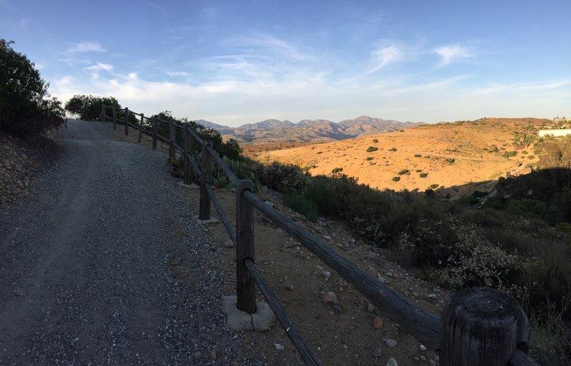 Climbing the hill.