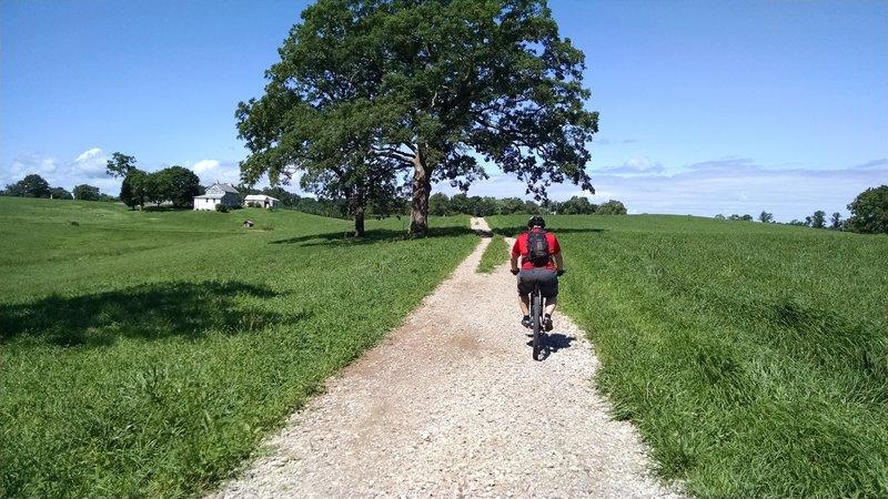 A beautiful ride through rolling fields.