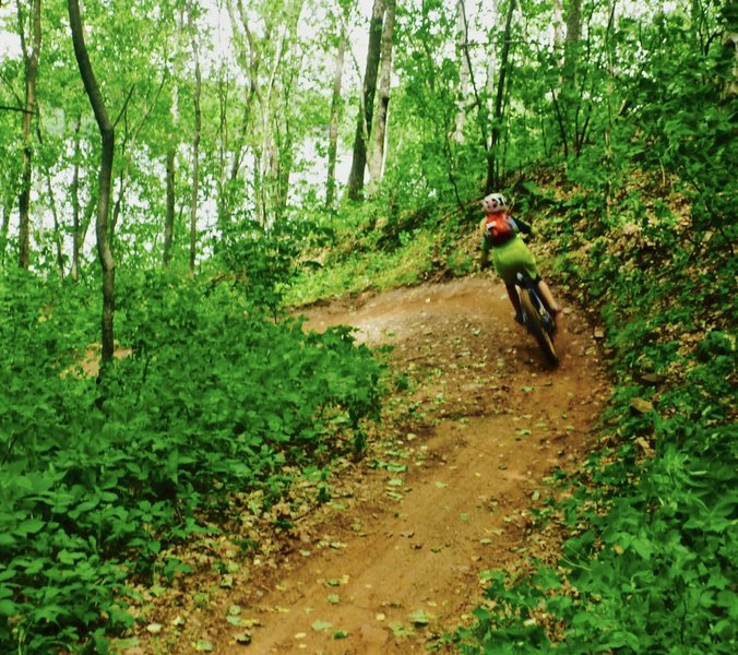Ripping the berms of Screamer.
