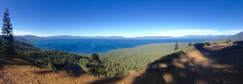 The top of Noonchester has some of the biggest, most unobstructed panoramic lake views in the Tahoe basin.