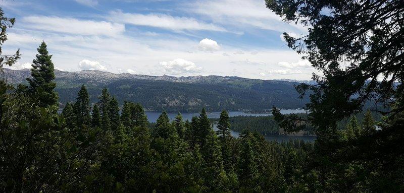 Overlooking top view of Rim Trail Loop.