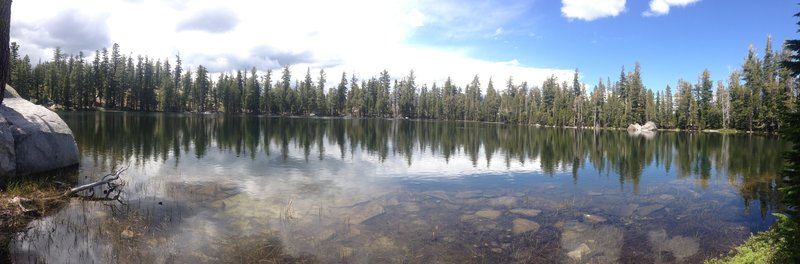 Lost Lake. A gorgeous natural alpine lake on the edge of Desolation Wilderness.