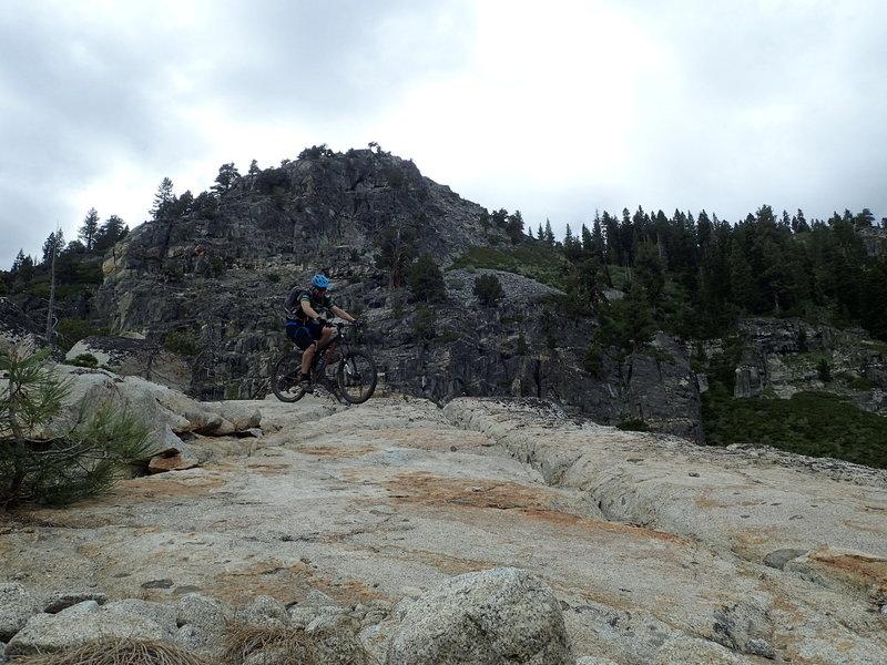Big rock on the General Creek descent.