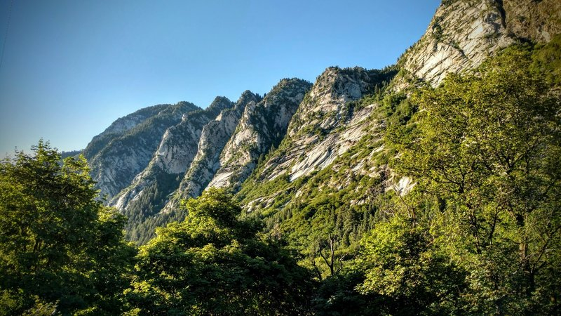 Spectacular granite cliffs surround this fun singletrack.