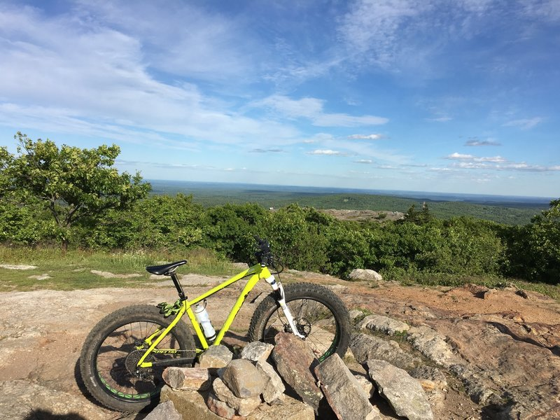 The toughest climb I've done, but the view is one of the best in the area that you can get to on a bike. Absolutely perfect!