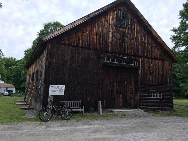William's Barn, lots of well maintained smooth intermediate type trails. Plenty of parking available in barn parking lot.