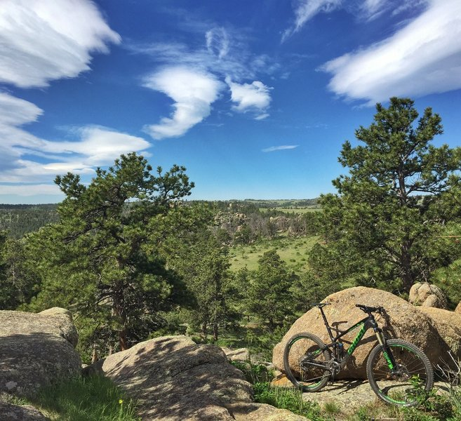 Digging a perfect day on the new whip at Curt Gowdy. Amazing trail network.