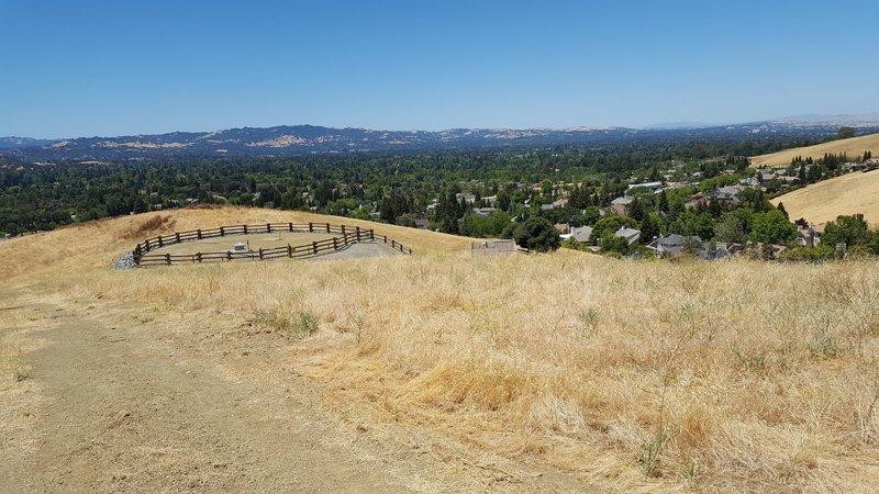 View coming down ridge overlooking Walnut Creek and Diablo Valley.