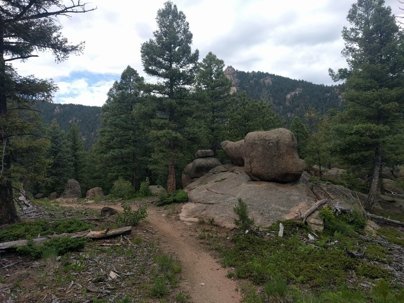Lots of cool rock outcroppings