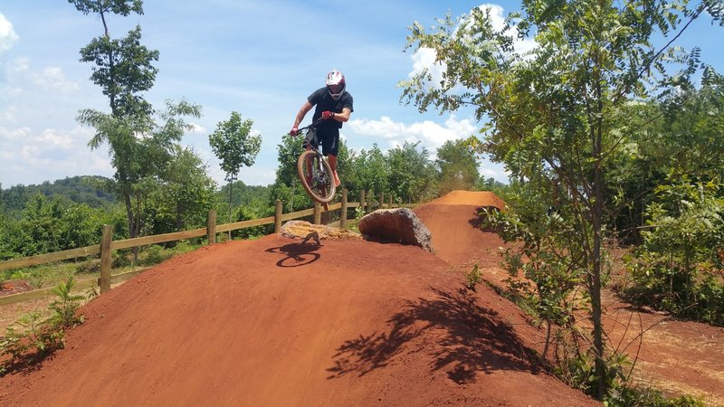 First jump on Devil's Racetrack