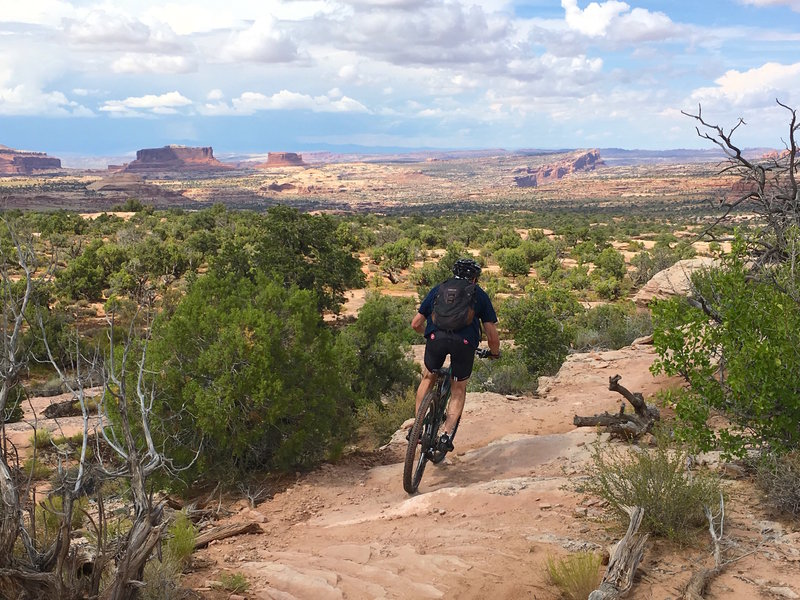 Twists, turns, changing surfaces and dramatic scenery fill this ride with excitement.
