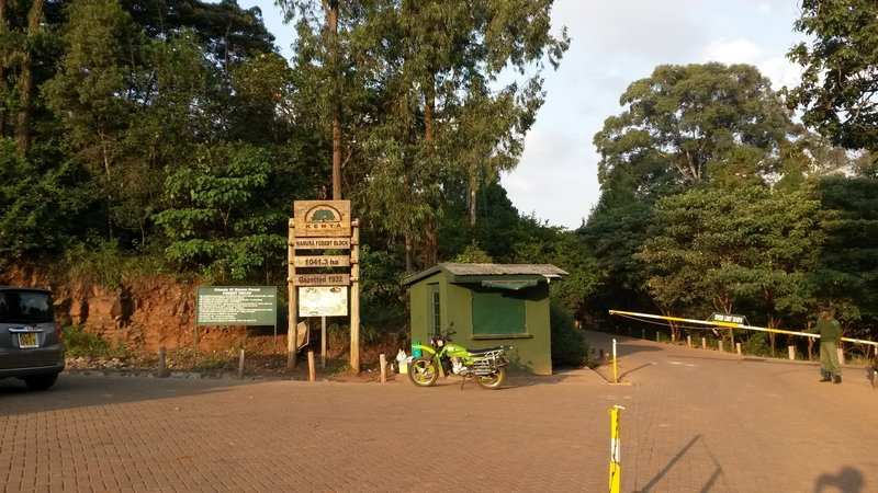 Main entrance to Karura Forest