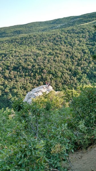Looking down to Elephant Rock