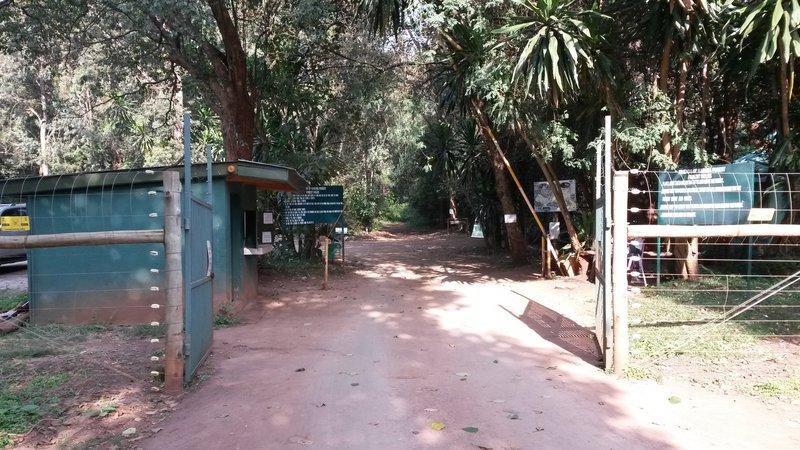 Entrance to Sigiria Forest from Thigiri Ridge.