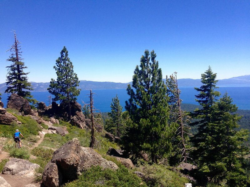 Big Blue and big blue sky on Watson Peak Trail