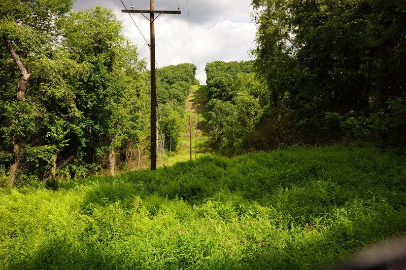 Power line cut.