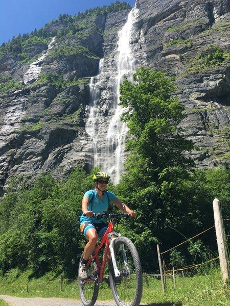 Below Murrenbach falls - tallest in Switzerland!