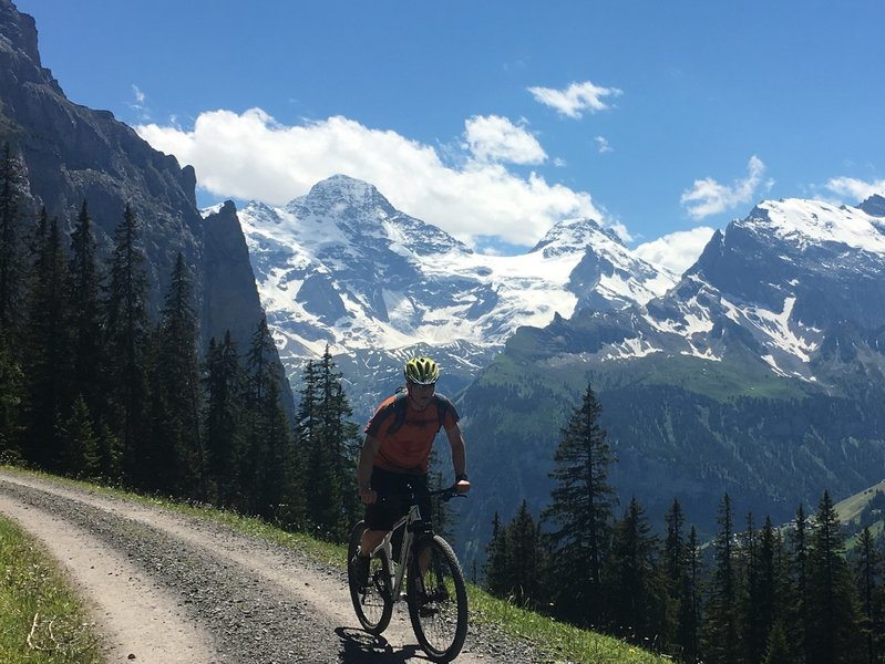 Climbing out of Wengen and the views get better and better.