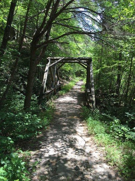 Old wood bridge on the trail.