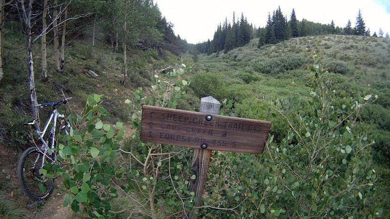 Sheep Creek Trail at 175.