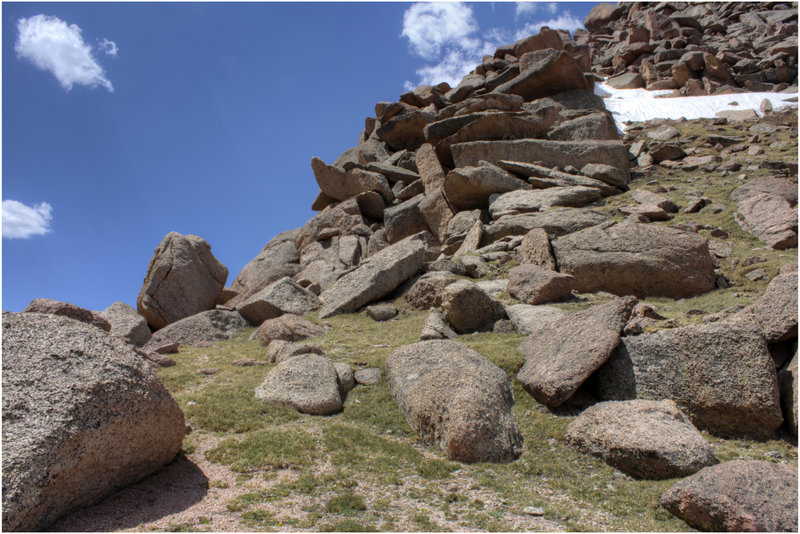 These errant boulders are all over this trail.