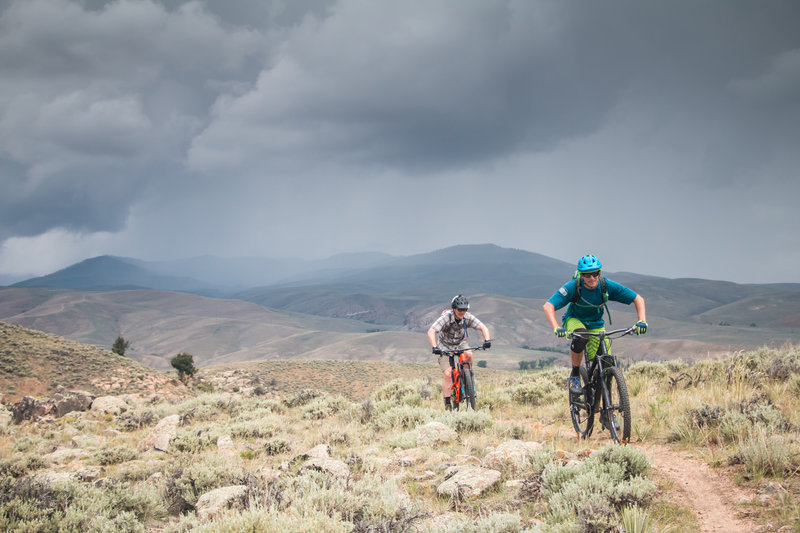 Riding away from the storm...