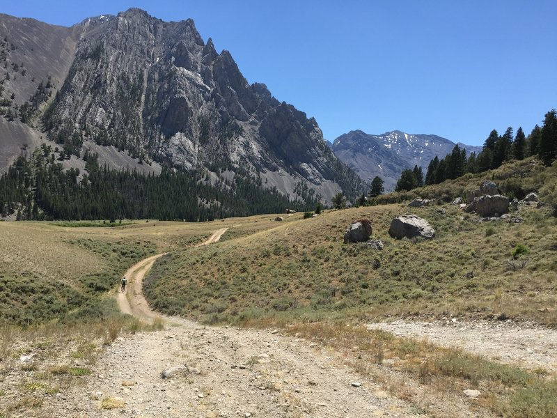 Heading into the Pahsemoroi River valley.