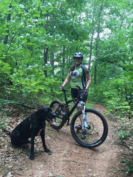 Lower sidehill trail break