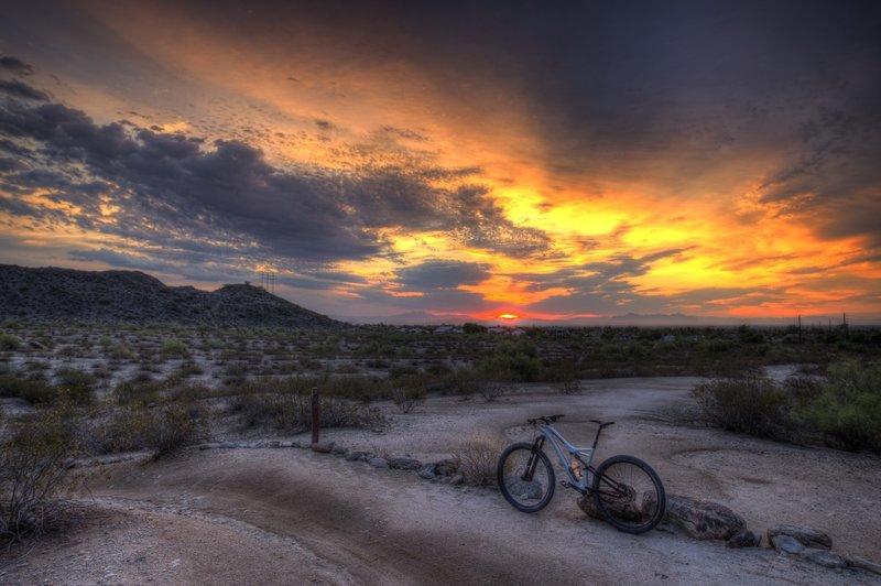 Classic sunrise on Desert Classic Trail