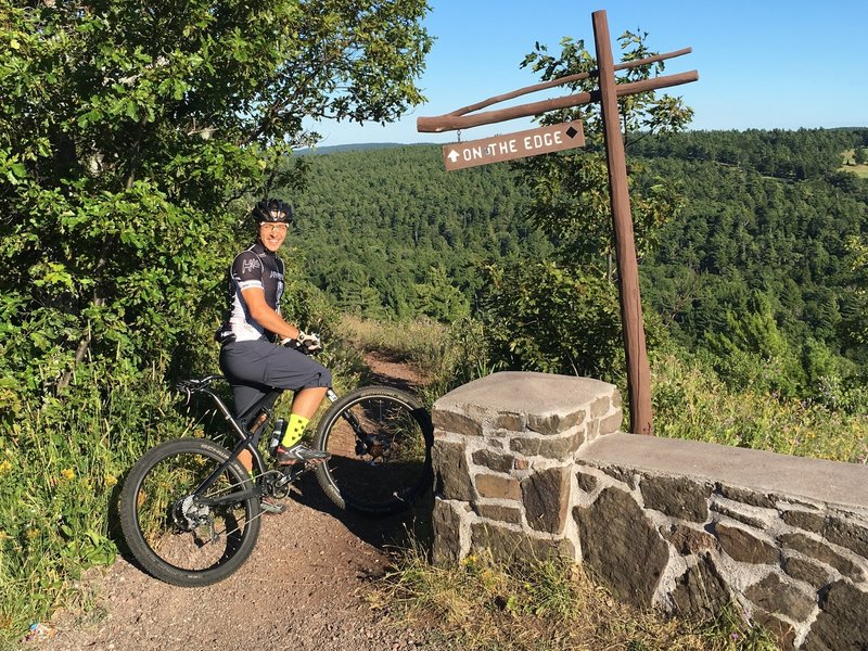 Start of the ride at the top of On the Edge