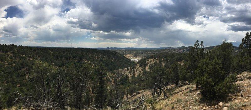 Looking south towards 160 through Big Canyon.
