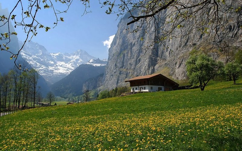 Lauterbrunnen Valley.