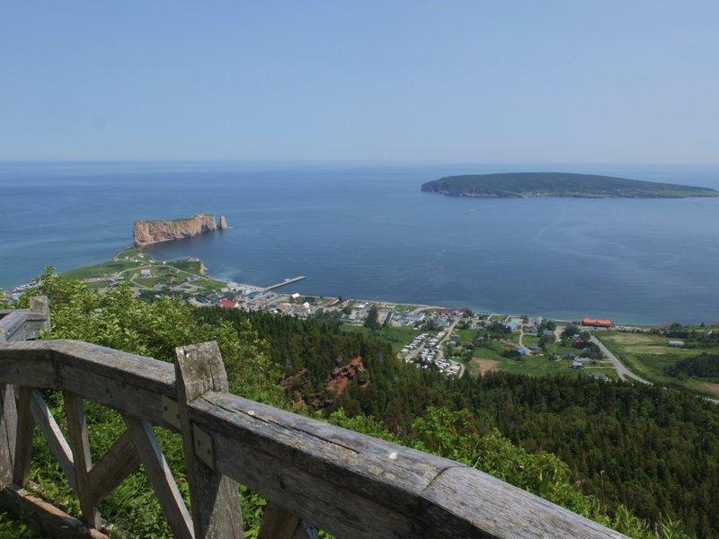 Perce Rock and Bonaventure Island.