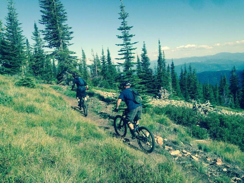 Mike K and Mark S of the Selkirk Rec District out after taking in views over the Pend Oreille River.