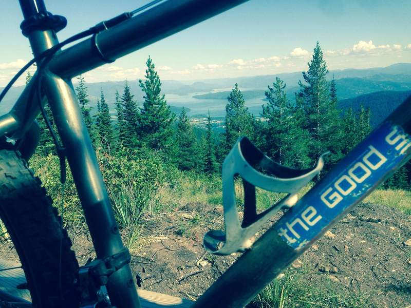 Stop at the Highpoint Trail benches for incredible views of Lake Pend Oreille and Sandpoint.