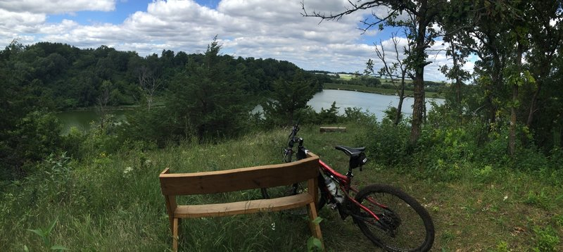 Another view of the Reservoir from the south side. Perfect spot for a break after a challenging climb.