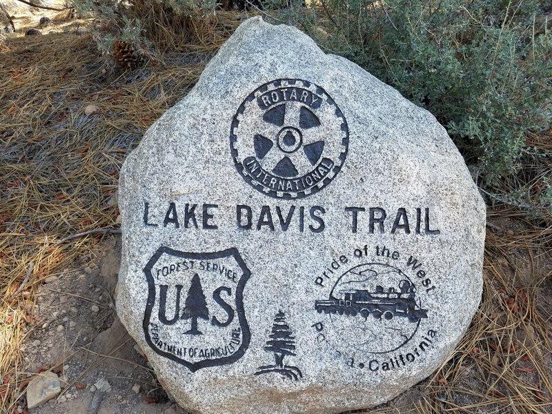 Trailhead marker.