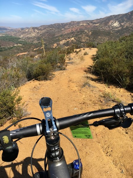 SilMod Singletrack is a fun downhill section.