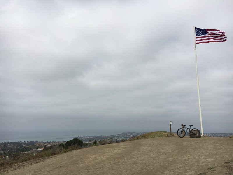 Patriot Trail terminus at Flagpole Hill.