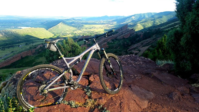 Salsa Horsethief demo from the Golden Bike Shop, overlooking Red Rocks to the South.