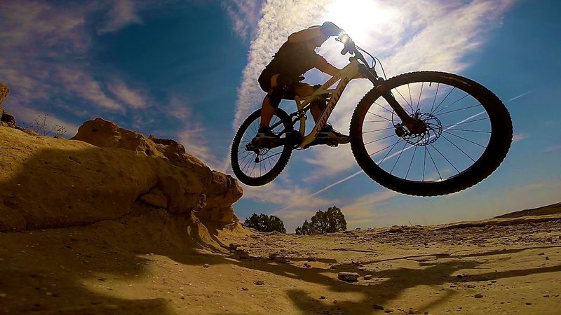 Just getting some air on Curt's Lane at Tabeguache...