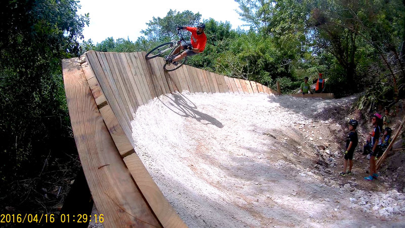 Wall Ride on Purple Haze. Rider: Nathan Sade.