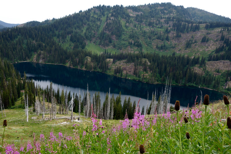 Heading down to lower Siamese Lake.