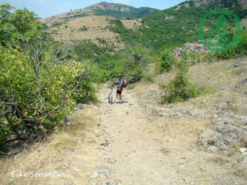 Nice rocky track in Macin mountains.