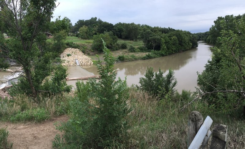 Great view of the Smoky Hill River!