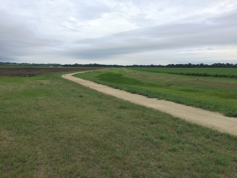 South end of the levee trail